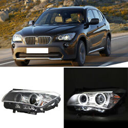 For BMW X1 12-14 LED Angel Eyes Halo+Daytime Running Light HID Xenon Headlights