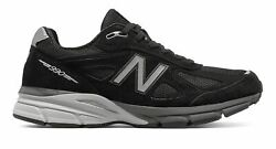 New Balance Men's 990V4 Made In Us Shoes Black With Silver