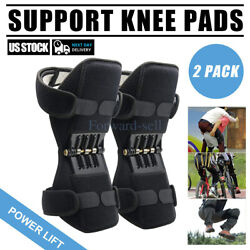 2pc Joint Support Knee Pads Non-slip Power Lift Rebound Spring Force USA Unisex