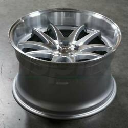 Aodhan DS02 DS2 18x9.5 5x100 35 Silver Machined Face Wheels(4) 18