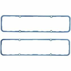 Fel-Pro 1628 Small Block Chevy Molded Blue Silicone Valve Cover Gasket Pair Of 2 $36.98