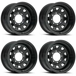 17x8 Black Wheels Vision 84 Vision 6x5.56x139.7 -12 (Set of 4)