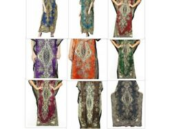 Long Kaftan dress Hippy Boho Maxi Plus Size Women Caftan Tunic Dress Night Gown $6.99