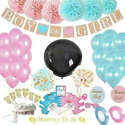 Gender Reveal Party Supplies (103 Pieces) with Photo Props 36 In Reveal Ballon