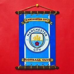 fits MANCHESTER CITY Rare FLAG SET 5in1: Banner Sticker Pennant Postcard Magnet
