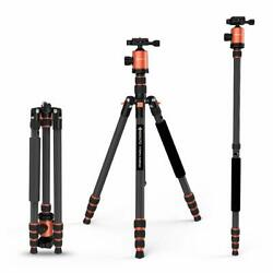 GEEKOTO 79 inches Carbon Fiber Camera Tripod Monopod with 360 Degree Bal - Qty:1