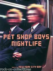 Pet Shop Boys 1999 Nightlife Original UK Perforated Promo Poster