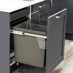 Dark Grey Pull Out Kitchen Bin for 600mm Cabinet 2 x 45L Bins Recycling GBP 96.89