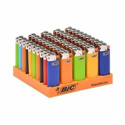 BIC Small Mini Solid 12 Lighters Long Last Assorted Pink Blue Green Black $15.98