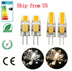 US 2010x G4 COB LED Light ACDC 12V 3W 6W COB Lamp Bulb 10PC Dimmable ei