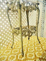 Antique Solid Brass Table Ornate