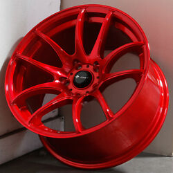 17x8 Candy Red Wheels Vors TR4 5x112 35 (Set of 4)