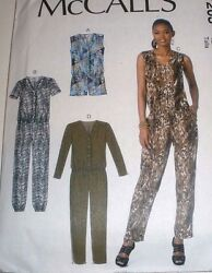McCall's 7203 Misses' Romper and Jumpsuits Sewing Pattern Size 6-22 UC