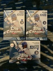 Lot of (3) 2019 Topps Chrome **Factory Sealed BLASTER BOXES