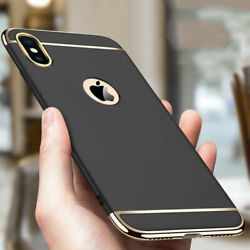 For iPhone XS Max XR Luxury Shockproof Hybrid Electroplate Slim Hard Case Cover