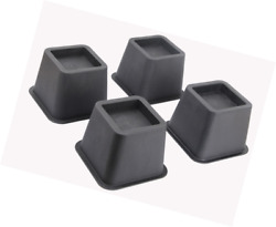 Ryehaliligear Easygoing 4-Pack 3 Inch Height Bed Risers Furniture Riser and Lif