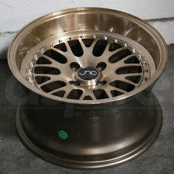 17x8 Transparent Bronze Wheels JNC 001 JNC001 5x1005x114.3 25 (Set of 4)