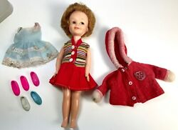 Vintage 1963 Deluxe Reading PENNY BRITE DOLL & clothes Tammy Pepper Topper