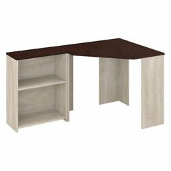 Townhill Corner Desk with Bookcase in Washed Gray and Madison Cherry $137.88