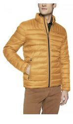 $195 Tommy Hilfiger Mens Yellow Down Fill Puffer Jacket Packable Coat 2XL