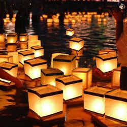 10 FLOATING WISH LANTERNS - CHINESE WATER WISHING CANDLE LIGHTS -WEDDINGFUNERAL