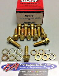 Manley 42176 Small Block Chevy Intake Manifold Bolts Gold Irridite With Washers
