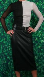**Contemporary Set** Designer Top Catherine Malandrino Pleather Skirt AND Belt $289.00