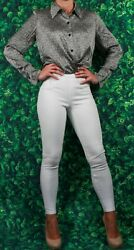 **Contemporary Set** Spanx White Stretch Pants AND Maggie London Silk Top $109.00