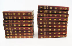 Antique Set Works of Charles Dickens 17 Vols. Leather Bound
