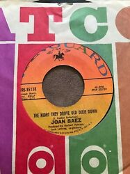 JOAN BAEZ 45 RPM VANGUARD THE NIGHT THEY DROVE OLD DIXIE DOWN