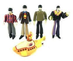 The Beatles Yellow Submarine Ringo Paul John George 4 Figure Lot w Submarine