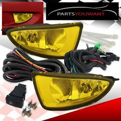 04 05 Civic 2 4 Door Yellow Bumper Driving Fog Lights Pair Lamp Switch Wiring $30.51