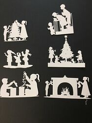 Christmas kids die cuts for cards or scrapbook 6 pieces $1.45