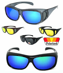 1 or 2 Pairs FIT OVER Sunglasses Polarized Lens Cover Rx Glasses UV Protect $11.99