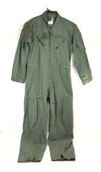 US Military Coveralls 44R Flyer's Pilot CWU-27P Summer Flight Suit Sage Green
