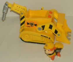 Nickelodeon Paw Patrol Rubble's Bulldozer Vehicle With Figure Lights and Sound