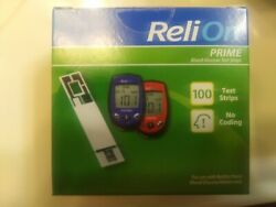 ReliOn Prime Blood Glucose Test Strips 100 Count EXP 042021+ free shipping !