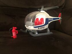 Playmobil Police Helicopter A HPMT with Fire Extinguisher * NICE $6.99