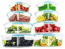 18 Pieces Glass Food Storage Container set with Airtight Lids Utopia Kitchen $26.11