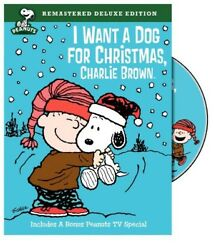 I Want a Dog for Christmas Charlie Brown New DVD Deluxe Ed Full Fra $15.24
