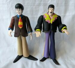 2 McFarlane Toys 1999 THE BEATLES YELLOW SUBMARINE Figures PAUL and JOHN LENNON