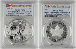2019 Pride of Two Nations 2-coin Set PCGS PR70 First Day
