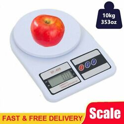 Digital Weigh Packaging Shipping Postal Scale LCD Display 10kg0.5g 22lb White
