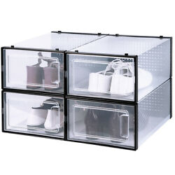 NEW OnDisplay ClikShoe STACKABLE CLEAR SHOEBOX CUSTOMIZABLE SHOE STORAGE BOX $12.95
