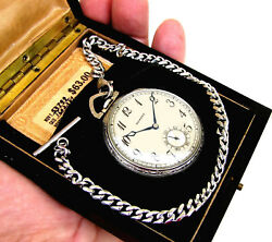 Antique 17 Jewels Civil War Time Pocket Watch E. Howard In Wooden Factory Box