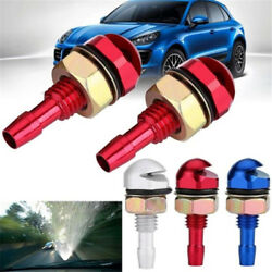 2 Pcs Universal Auto Vehicle Front Windshield Washer Sprayer Nozzle Metal Alloy
