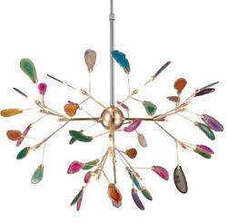 Colorful Agate LED Ceiling Fixture Metal Pendant Lighting Firefly Ceiling Lamps $249.00