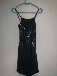 Black Sequin Dress Size M L