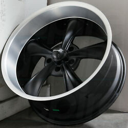 17x8 Matte Black Machined Lip Wheels Ridler 695 5x4.755x120.65 0 (Set of 4)