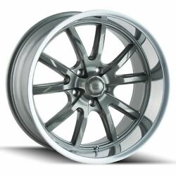17x717x8 Gunmetal Wheels Ridler 650 5x55x127 00 (Set of 4)